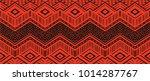 ikat geometric folklore... | Shutterstock .eps vector #1014287767