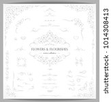 set of flourish frames  borders ... | Shutterstock .eps vector #1014308413