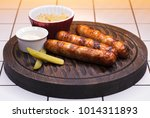 restaurant dish. three grilled... | Shutterstock . vector #1014311893