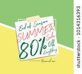summer sale v6 80 percent...   Shutterstock .eps vector #1014316393