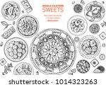 oriental sweets vector... | Shutterstock .eps vector #1014323263
