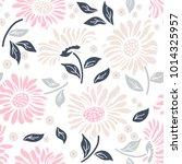 seamless floral pattern in folk ...   Shutterstock .eps vector #1014325957