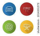 auto workshop flat linear long... | Shutterstock .eps vector #1014331573