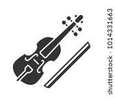 viola and bow glyph icon. cello.... | Shutterstock .eps vector #1014331663