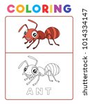 funny ant insect animal... | Shutterstock .eps vector #1014334147