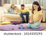 sibling relationship. parents... | Shutterstock . vector #1014335293