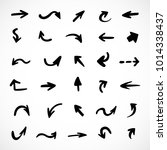 hand drawn arrows  vector set | Shutterstock .eps vector #1014338437