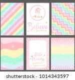 set of colored pastel vector... | Shutterstock .eps vector #1014343597