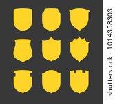 vector shield icon  flat design ...   Shutterstock .eps vector #1014358303