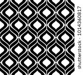 Abstract geometric pattern with wavy lines, stripes. A seamless background. Black and white ornament. Graphic modern pattern. | Shutterstock vector #1014360817