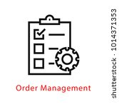 order management vector icon | Shutterstock .eps vector #1014371353