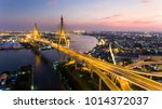 aerial shot   beautiful night... | Shutterstock . vector #1014372037