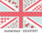 cute british flag in shabby... | Shutterstock .eps vector #101437657