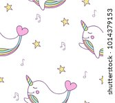 simple cute seamless pattern... | Shutterstock .eps vector #1014379153