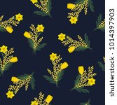 seamless pattern with yellow...   Shutterstock .eps vector #1014397903