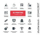 3d printing   line design... | Shutterstock .eps vector #1014412837