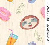 cute seamless pattern with...   Shutterstock .eps vector #1014419653