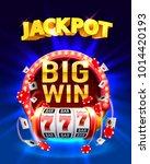 jackpot big win slots 777... | Shutterstock .eps vector #1014420193