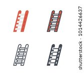 ladder firefighter service icon | Shutterstock .eps vector #1014426637