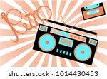 old  vintage  retro  hipster ... | Shutterstock .eps vector #1014430453