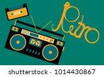 old  vintage  retro  hipster ... | Shutterstock .eps vector #1014430867