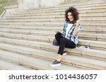 winner  happy african american... | Shutterstock . vector #1014436057