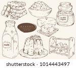 sweet bakery   ingredients for... | Shutterstock .eps vector #1014443497