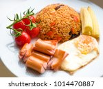 american fried rice  thai fried ... | Shutterstock . vector #1014470887