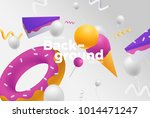 vector background with bright... | Shutterstock .eps vector #1014471247