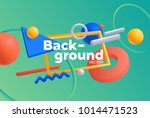vector background with bright... | Shutterstock .eps vector #1014471523
