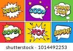 retro comic speech bubbles set... | Shutterstock .eps vector #1014492253
