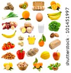 healthy food with fruits ... | Shutterstock . vector #101451997