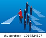 businessmen choose different... | Shutterstock .eps vector #1014524827