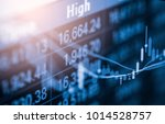 stock market or forex trading... | Shutterstock . vector #1014528757
