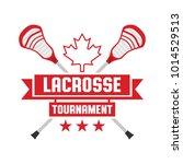 a lacrosse tournament crest... | Shutterstock .eps vector #1014529513
