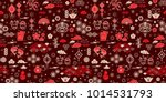 seamless pattern with chinese... | Shutterstock .eps vector #1014531793