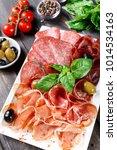 antipasto platter cold meat... | Shutterstock . vector #1014534163