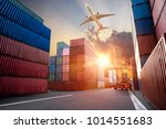 logistics and transportation of ... | Shutterstock . vector #1014551683