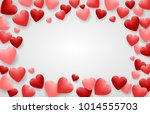 valentine's day background with ... | Shutterstock .eps vector #1014555703