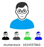 joy nerd man vector icon.... | Shutterstock .eps vector #1014557863
