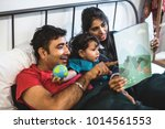 a happy indian family | Shutterstock . vector #1014561553