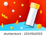 vector 3d realistic abstract... | Shutterstock .eps vector #1014562033
