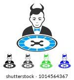 positive devil roulette dealer... | Shutterstock .eps vector #1014564367