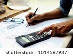 architect engineer design... | Shutterstock . vector #1014567937