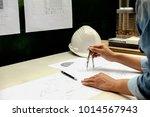 architect engineer design... | Shutterstock . vector #1014567943