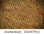 Old Hemp Fishing Net Pattern