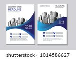 design cover book with blue... | Shutterstock .eps vector #1014586627