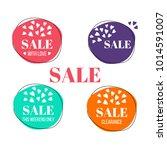 vector set of sale banners.... | Shutterstock .eps vector #1014591007