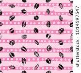 xoxo style kisses brush grunge... | Shutterstock .eps vector #1014597547