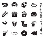solid black vector icon set  ... | Shutterstock .eps vector #1014598213